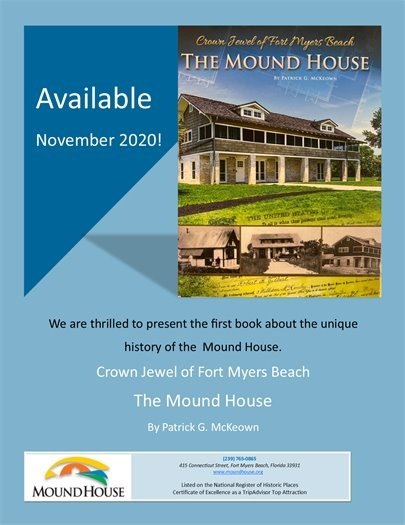 Flyer about Mound House book being sold in museum store