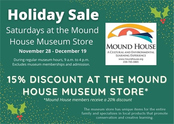 Holiday sale at the Mound House Museum November 28-December 19