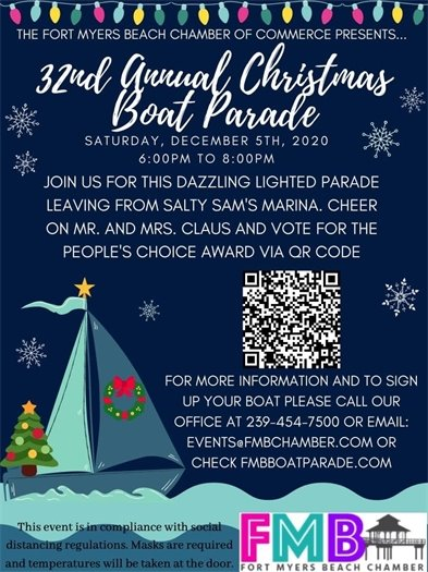 32nd annual holiday lights boat parade is December 5