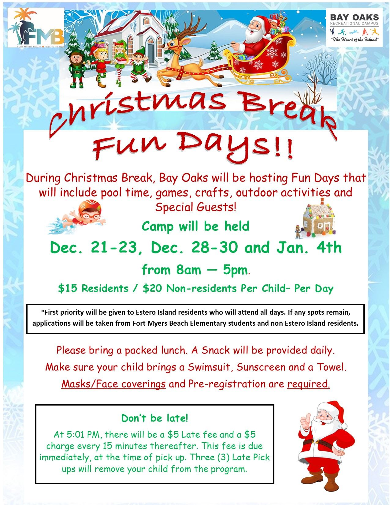 Christmaas Break Fun days flyer Opens in new window